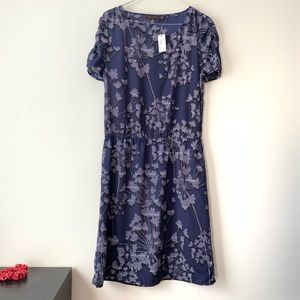 The Limited Blue Floral Fit Flare Dress NWT